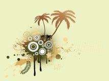 Bloemen Decoratieve achtergrond Stock Afbeelding