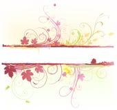 Bloemen Decoratieve banner