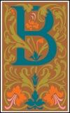 Bloemen decoratieve brief B in Kleur Royalty-vrije Stock Afbeelding
