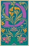 Bloemen decoratieve brief D in Kleur Royalty-vrije Stock Foto's