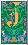 Bloemen decoratieve brief J in Kleur Royalty-vrije Stock Afbeelding