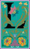 Bloemen decoratieve brief L in Kleur Royalty-vrije Stock Fotografie