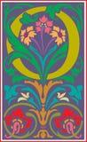 Bloemen decoratieve brief O in Kleur Royalty-vrije Stock Fotografie