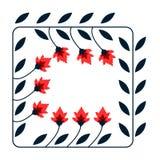 Bloemen decoratieve kaart Royalty-vrije Stock Afbeeldingen