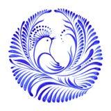Bloemen decoratieve ornamentparadijsvogel Royalty-vrije Stock Fotografie