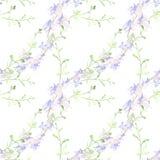 Bloemen - decoratieve samenstelling watercolor Naadloos patroon Het gebruik drukte materialen, tekens, punten, websites, kaarten, stock illustratie