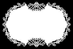 Bloemen Decoratieve Zwarte & Witte Fotogrens/Rand Typetekst binnen, Gebruik als Bekleding of voor Laag/het Knippen Masker stock illustratie