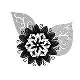 Bloemen die in een fijne kunststijl zijn ontsproten in een studio Vector Illustratie