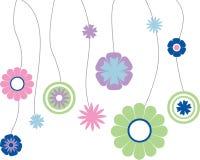 Bloemen die op koord hangen vector illustratie