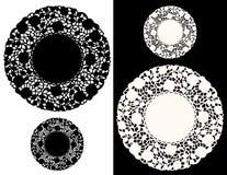 Bloemen Doily van het Kant, jpg+eps Stock Afbeeldingen