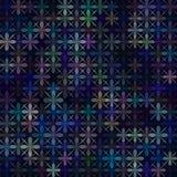 Bloemen donkere vectorpatroon retro achtergrond Stock Afbeeldingen