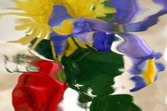 Bloemen door glas Stock Afbeelding