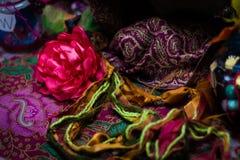 Bloemen, draden en ambacht Stock Afbeeldingen