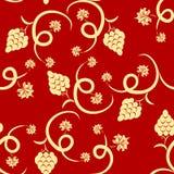Bloemen druiven naadloos patroon Stock Afbeelding