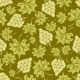 Bloemen druiven naadloos patroon Royalty-vrije Stock Afbeeldingen