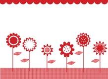 Bloemen in een rij Stock Foto's