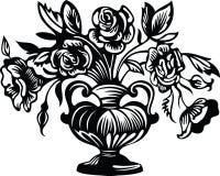 Bloemen in een vaas vector illustratie