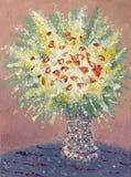 Bloemen in een Vaas Royalty-vrije Stock Afbeeldingen