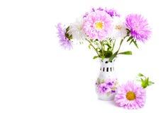 Bloemen in een vaas Stock Foto's