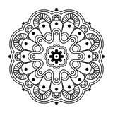 Bloemen eenvoudige mandala Royalty-vrije Stock Afbeeldingen