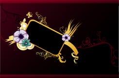 Bloemen elegante vector composit Stock Afbeeldingen
