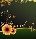 Bloemen elegante vector composit Royalty-vrije Stock Foto's