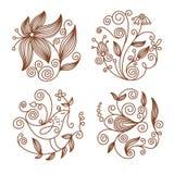 Bloemen elementen vector illustratie
