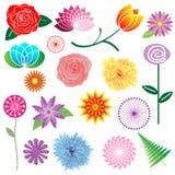 Bloemen Elementen Royalty-vrije Stock Afbeeldingen