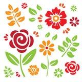 Bloemen Elementen Royalty-vrije Stock Foto's