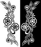 Bloemen elementen Stock Afbeelding