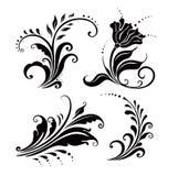 Bloemen elementen (vector) Vector Illustratie