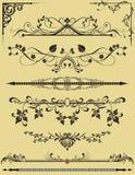 Bloemen elementen voor achtergrond Vector Illustratie