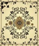 Bloemen elementen voor achtergrond Stock Afbeeldingen