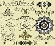 Bloemen elementen voor achtergrond Stock Illustratie