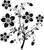 Bloemen elementen voor ontwerp, vector royalty-vrije illustratie