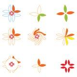Bloemen emblemen Royalty-vrije Stock Foto's