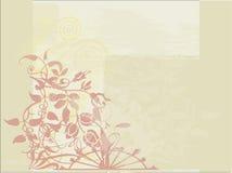 Bloemen en Achtergrond Grunge Royalty-vrije Stock Fotografie