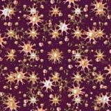 Bloemen en Ballenpatroon Royalty-vrije Stock Foto