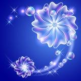 Bloemen en bellen vector illustratie