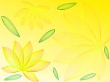 Bloemen en bladeren royalty-vrije illustratie
