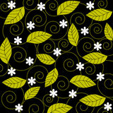 Bloemen en bladeren Royalty-vrije Stock Afbeeldingen