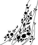 Bloemen en bladeren, silhouet Royalty-vrije Stock Afbeelding