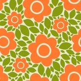 Bloemen en bloemblaadjes Naadloos vector bloemenpatroon Royalty-vrije Stock Foto's