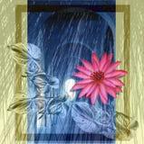 Bloemen en boog vector illustratie