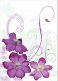Bloemen en golven. Stock Afbeeldingen