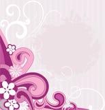 Bloemen en golven. Royalty-vrije Stock Foto's