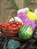 Bloemen en groenten Stock Fotografie