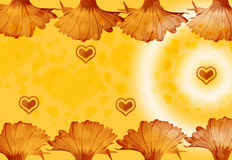 Bloemen en harten Stock Afbeelding