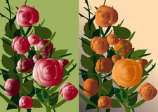 Bloemen en installaties Royalty-vrije Stock Afbeelding