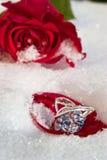 Bloemen en juwelier Stock Foto's